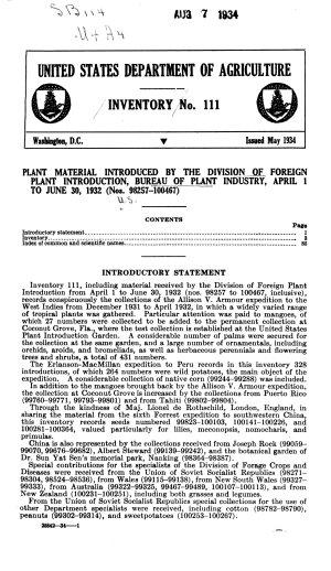 Plant Inventory