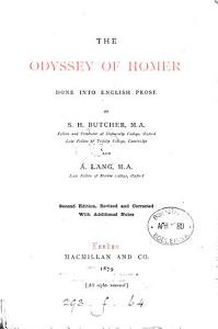 The Odyssey  done into Engl  prose by S H  Butcher and A  Lang PDF