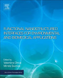 Functional Nanostructured Interfaces for Environmental and Biomedical Applications