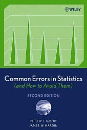 Common Errors in Statistics (and How to Avoid Them): Edition 2