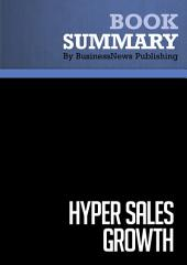 Summary: Hyper Sales Growth: Review and Analysis of Daly's Book