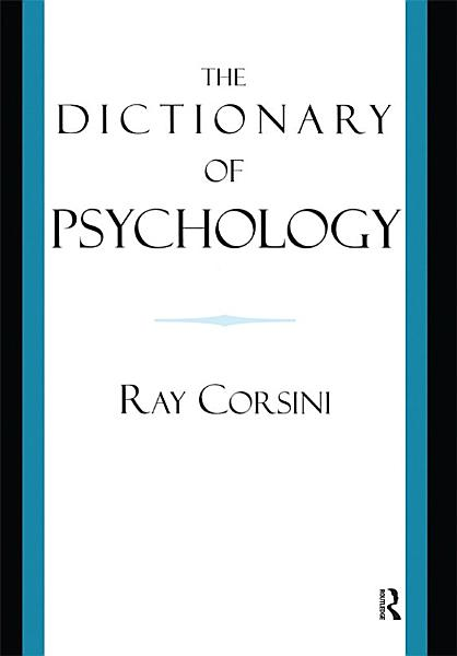 Download The Dictionary of Psychology Book