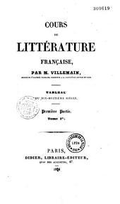 Cours de littérature française: tableau du dix-huitième siècle