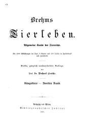 Brehms Tierleben: Allgemeine kunde des tierreichs, Band 2