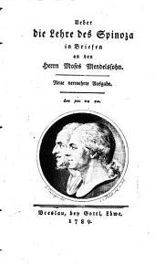 Ueber die Lehre des Spinozas in Briefen an Moses Mendelssohn