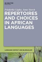 Repertoires and Choices in African Languages PDF