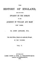 The History of England: From the First Invasion by the Romans to the Accession of William and Mary in 1688, Volume 5