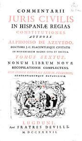 Commentarii juris civilis in Hispaniae regias constitutiones