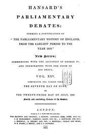 The Parliamentary Debates: Volume 67