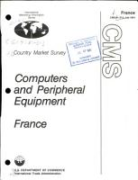 Computers and Peripheral Equipment  France PDF