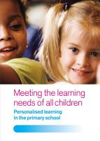 Meeting the Learning Needs of All Children PDF
