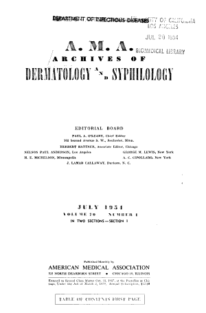 A M A  Archives of Dermatology and Syphilology
