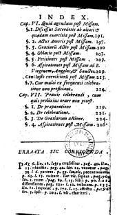 De Sacrificio missae, tractatus asceticus