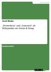"""""""Prometheus"""" und """"Ganymed"""" als Höhepunkte des Sturm & Drang"""