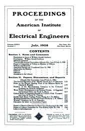 Electrical Engineering: Volume 27, Part 2