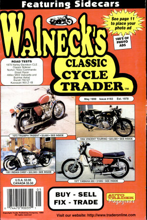WALNECK S CLASSIC CYCLE TRADER  MAY 1999
