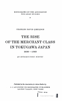 the rise of the merchant class in tokugawa japan 1600 1868 PDF