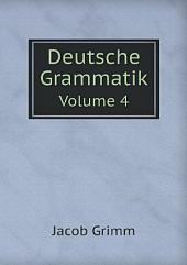 Deutsche Grammatik: Band 1,Teil 1