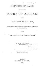 Reports of Cases Decided in the Court of Appeals of the State of New York: Volume 141