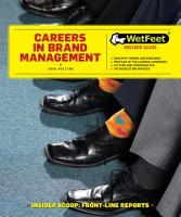 Careers in Brand Management PDF