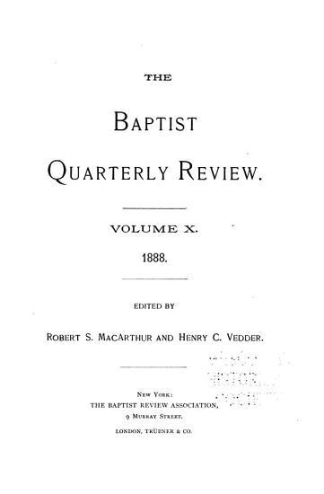The Baptist Quarterly Review PDF