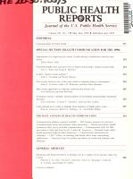 Public health reports PDF