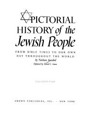 Pictorial History Of The Jewish People From Bible Times To Our Own Day Throughout The World Book PDF