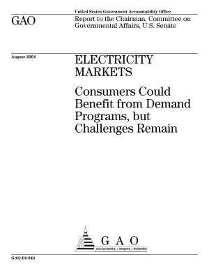 Electricity markets consumers could benefit from demand programs, but challenges remain : report to the Chairman, Committee on Governmental Affairs, U.S. Senate.