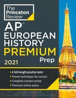 Princeton Review AP European History Premium Prep  2021 PDF