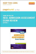 Admission Assessment Exam Review   Pageburst E Book on Kno  Retail Access Card