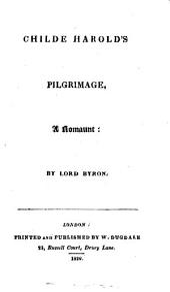 Childe Harold's pilgrimage, a romaunt