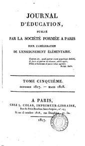 Journal d'éducation [afterw.] Bulletin [afterw.] Journal d'éducation populaire: Volumes 5-6