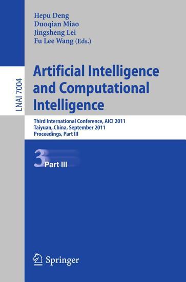 Artificial Intelligence and Computational Intelligence PDF
