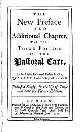 The New Preface and Additional Chapter to the Third Edition of the Pastoral Care