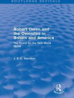 Robert Owen and the Owenites in Britain and America  Routledge Revivals  PDF