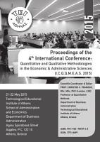 Proceedings of the 4th International Conference  Quantitative and Qualitative Methodologies in the Economic   Administrative Sciences  I C Q Q M E A S  2015  PDF