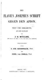 Schrift gegen den Apion