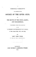 A Personal Narrative of a Journey to the Source of the River Oxus PDF