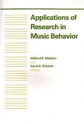 Applications Of Research In Music Behavior Book PDF
