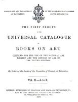 The First Proofs of the Universal Catalogue of Books on Art PDF