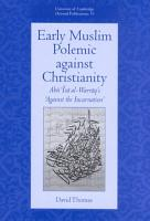 Early Muslim Polemic Against Christianity PDF