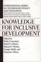 Knowledge for Inclusive Development PDF