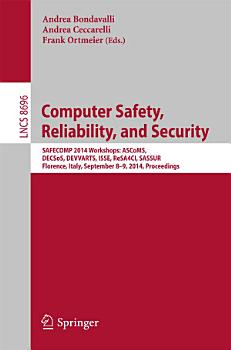 Computer Safety  Reliability  and Security PDF