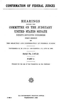 Confirmation of Federal Judges PDF