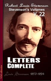 Letters, Complete: Stevenson's Vol. 22