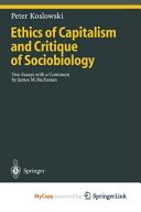 Ethics of Capitalism and Critique of Sociobiology PDF