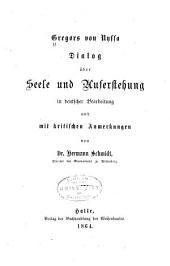Dialog über Seele und Auferstehung in deutscher bearbeitung und mit Kritischen anmerkungen