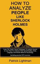 How To Analyze People Like Sherlock Holmes Book PDF