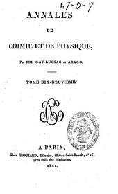 Annales de chimie et de physique: Volume19