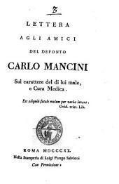 Lettera Agli Amici Del Defonto Carlo Mancini